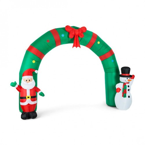 Надувна декорація вхідна різдвяна арка OneConcept Merry Welcome (10029233)